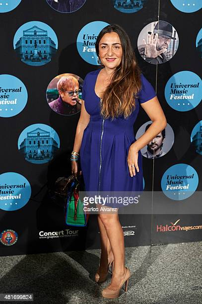 Spanish actress Candela Pena attends the Miguel Poveda concert at the Royal Theater on July 23 2015 in Madrid Spain