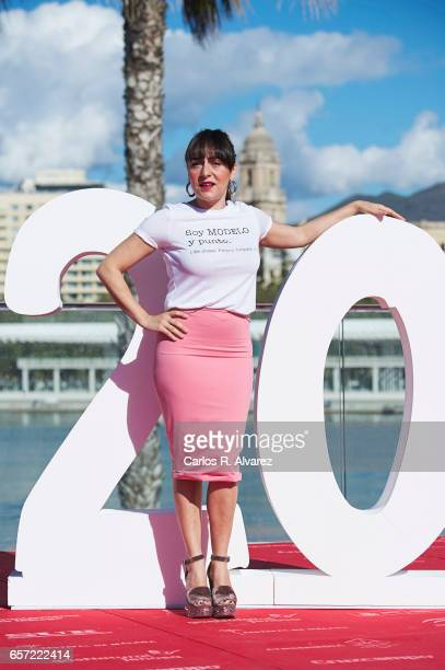 Spanish actress Candela Pena attends the 'Pieles' photocall on day 8 of the 20th Malaga Film Festival on March 24 2017 in Malaga Spain