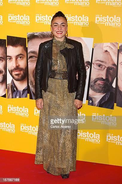 Spanish actress Candela Pena attends the 'Una Pistola en Cada Mano' premiere at the Palafox cinema on December 4 2012 in Madrid Spain