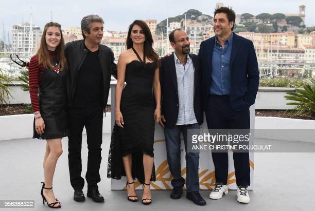 Spanish actress Carla Campra Argentinian actor Ricardo Darin Spanish actress Penelope Cruz Iranian director Asghar Farhadi and Spanish actor Javier...