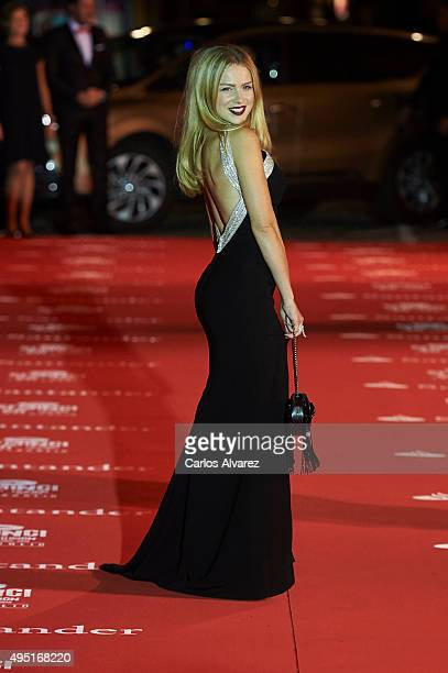 Spanish actress Carla Nieto attends the 60th Seminici Valladolid International Film Festival close ceremony at the Calderon Theater on October 31...