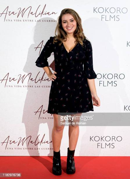 Spanish actress Carlota Boza attends 'Ara Malikian, Una Vida Entre Las Cuerdas' Madrid Premiere on October 23, 2019 in Madrid, Spain.