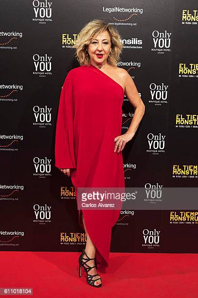Spanish actress Carmen Machi attends 'El Tiempo De Los Monstruos' premiere at Palacio de la Prensa cinema on September 28 2016 in Madrid Spain