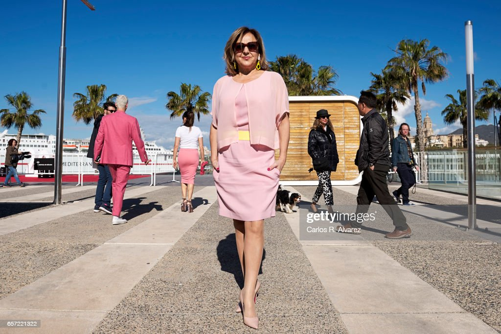 Spanish actress Carmen Machi (C) attends the 'Pieles' photocall on day 8 of the 20th Malaga Film Festival on March 24, 2017 in Malaga, Spain.