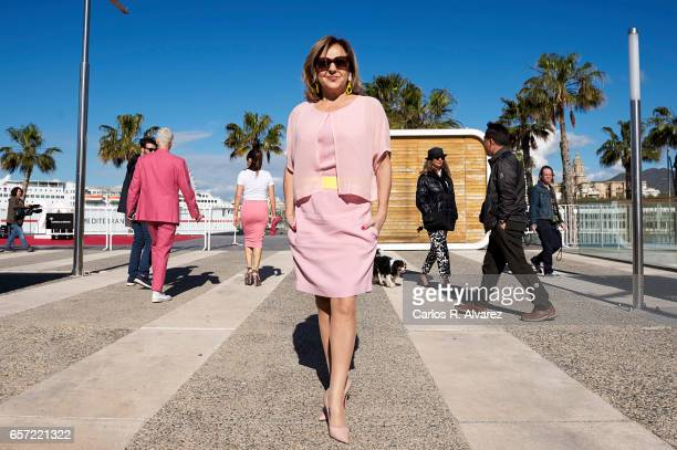 Spanish actress Carmen Machi attends the 'Pieles' photocall on day 8 of the 20th Malaga Film Festival on March 24 2017 in Malaga Spain