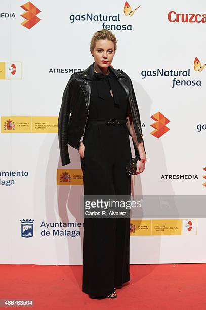Spanish actress Carolina Bang attends the Malaga Film Festival cocktail presentation at Circulo de Bellas Artes on March 18 2015 in Madrid Spain