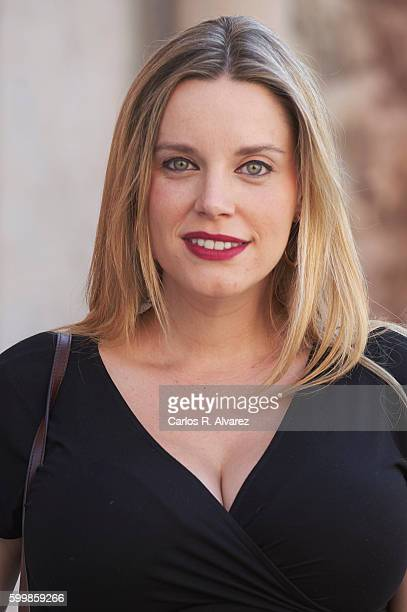 Spanish actress Carolina Bang attends 'Victor Ros' photocall at Escoriaza Esquivel Palace during FesTVal 2016 Day 3 on September 7 2016 in...