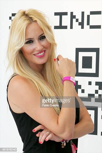 Spanish actress Carolina Cerezuela attends Omega Pharma Silincode SOS Charity Bracelet presentation on July 10 2014 in Madrid Spain