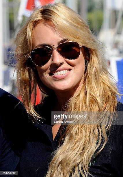 Spanish actress Carolina Cerezuela poses on board of Alex Rumbo a Ti during 28th Copa del Rey Audi Sailing Cup on August 7 2009 in Palma de Mallorca...