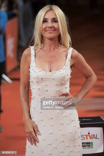 Spanish actress Cayetana Guillen Cuervo attends 'Ministerio del Tiempo' premiere at the Principal Teather during the FesTVal 2017 on September 5 2017...