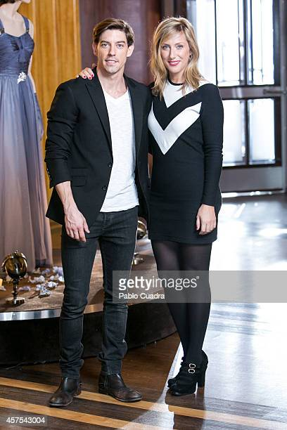 Spanish actress Cecilia Freire and actor Adrian Lastra pose during a photocall to present the 2nd season of 'Velvet' at A3 studios on October 20 2014...