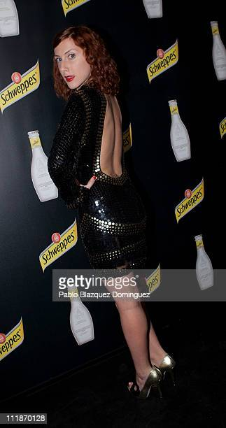 Spanish actress Cecilia Freire attends presentation of New Schweppes Drink at Santa Barbara Palace on April 7 2011 in Madrid Spain