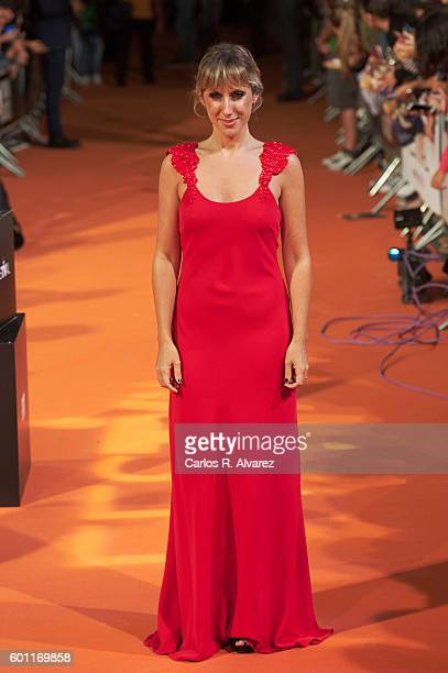 Spanish actress Cecilia Freire attends Velvet premiere at Principal Teather during FesTVal 2016 Day 5 on September 9 2016 in VitoriaGasteiz Spain