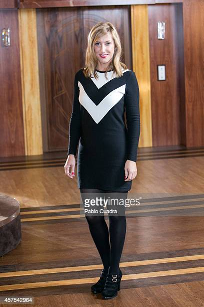 Spanish actress Cecilia Freire poses during a photocall to present the 2nd season of 'Velvet' at A3 studios on October 20 2014 in Madrid Spain