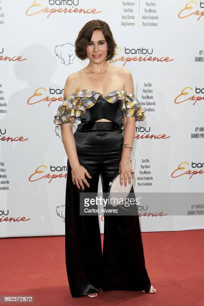 Spanish actress Celia Freijeiro attends the Bambu 10th anniversary party at Gran Maestre Theater on July 5, 2018 in Madrid, Spain.
