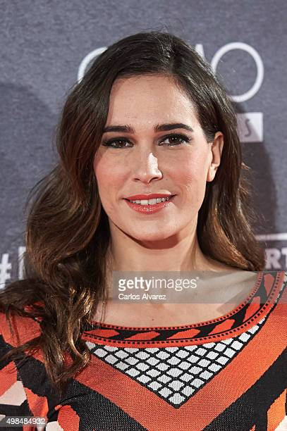 Spanish actress Celia Freijeiro attends the Invisibles charity premiere at the Callao cinema on November 23 2015 in Madrid Spain