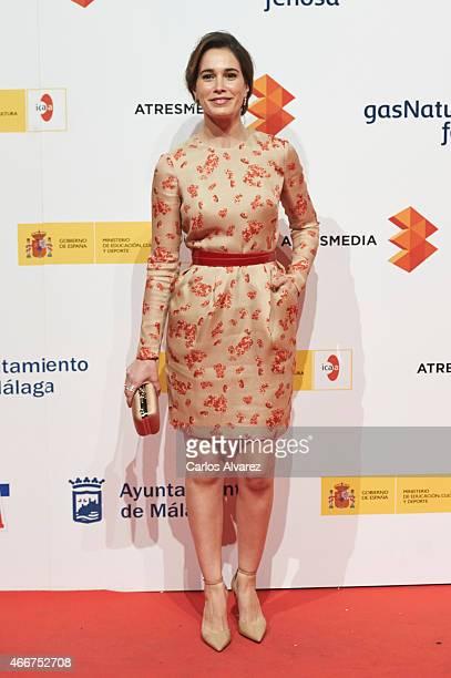 Spanish actress Celia Freijeiro attends the Malaga Film Festival cocktail presentation at Circulo de Bellas Artes on March 18 2015 in Madrid Spain