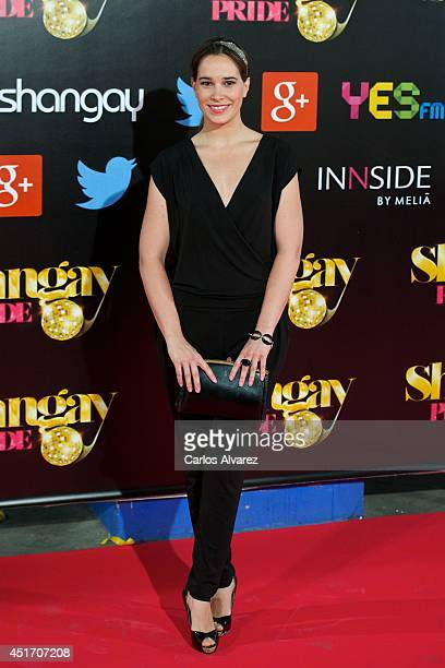 Spanish actress Celia Freijeiro attends the Shangay Pride concert at the Vicente Calderon stadium on July 4 2014 in Madrid Spain