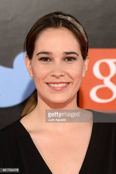 Spanish Actress Celia Freijeiro attends the Shangay Pride Madrid Photocall 2014 at Vicente Calderon Stadium on July 4 2014 in Madrid Spain