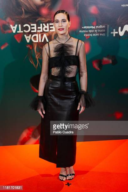 Spanish actress Celia Freijeiro attends the Vida Perfecta premiere at Verdi cinema on October 17, 2019 in Madrid, Spain.