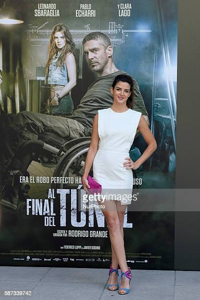 Spanish actress Clara Lago attends 'Al Final Del Tunel' photocall at Warner Bros office on August 8 2016 in Madrid Spain