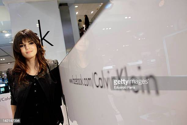 Spanish actress Clara Lago attends CK one color cosmetics photocall at El Corte Ingles store on March 30 2012 in Madrid Spain