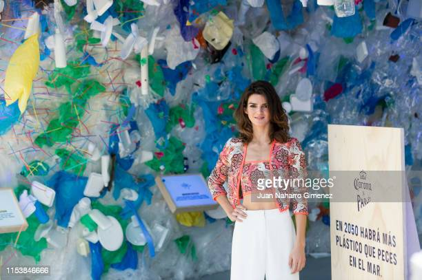 Spanish actress Clara Lago attends the presentation of a Corona Plastic Platform at the Principe Pio Station on June 05 2019 in Madrid Spain
