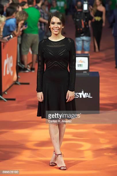 Spanish actress Claudia Traisac attends La Sonata del Silencio premiere at the Principal Theater during FesTVal 2016 Day 1 Televison Festival on...