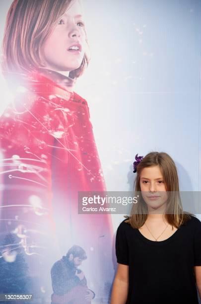 Spanish actress Claudia Vega attends Eva premiere at Capitol cinema on October 25 2011 in Madrid Spain