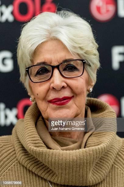 Spanish actress Concha Velasco attends FlixOle presentation at Real Academia de la Lengua Espanola on November 7 2018 in Madrid Spain