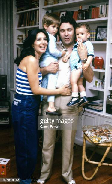 Spanish actress Concha Velasco with her husband the Spanish actor Paco Marso and their children 27th June 1980 Madrid Spain