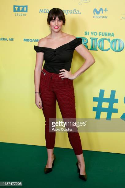 Spanish actress Cristina Abad attends Si Yo Fuera Rico premiere at Capitol Cinema on November 13 2019 in Madrid Spain