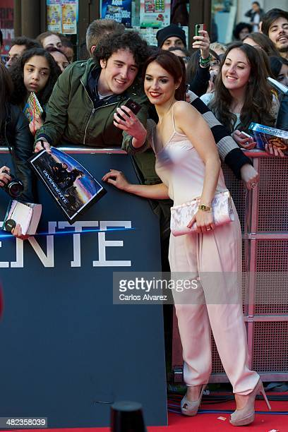 Spanish actress Cristina Brondo attends the Divergent premiere at the Callao cinema on April 3 2014 in Madrid Spain
