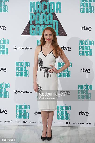 Spanish actress Cristina Castano attends Nacidas Para Ganar photocall at the Eurobuilding Hotel on May 04 2016 in Madrid Spain