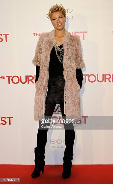 Spanish actress Cristina Urgel attends The Tourist premiere at Palacio de los Deportes on December 16 2010 in Madrid Spain