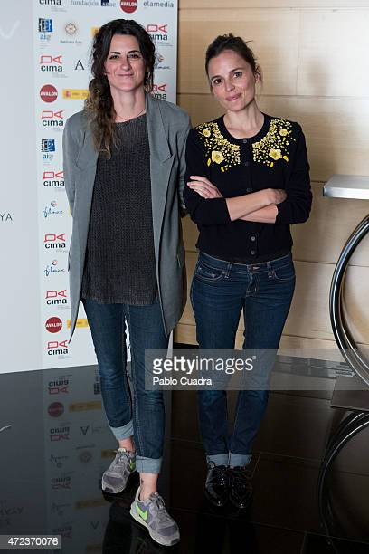 Spanish actress Elena Anaya and Beatriz Sanchis attend the 'Mujeres Que No Lloran' press conference on May 6 2015 in Madrid Spain