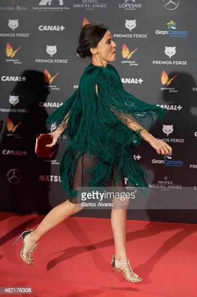 Spanish actress Elena Anaya attends the 'Feroz' Cinema Awards 2015 at Gran Teatro Ruedo Las Ventas on January 25 2015 in Madrid Spain