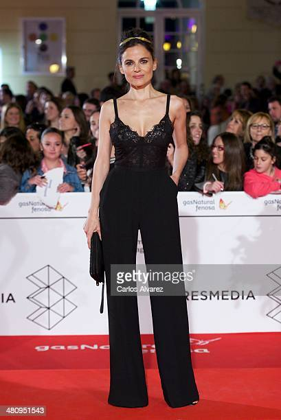 Spanish actress Elena Anaya attends the Todos Estan Muertos premiere during the 17th Malaga Film Festival 2014 Day 7 on March 27 2014 in Malaga Spain