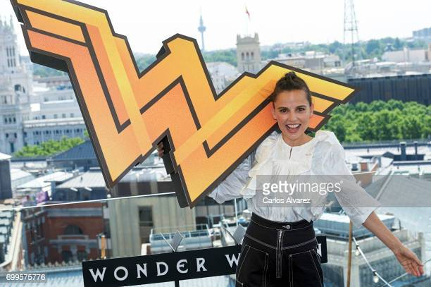Spanish actress Elena Anaya attends the 'Wonder Woman' photocall at the NH Collection Hotel on June 22 2017 in Madrid Spain