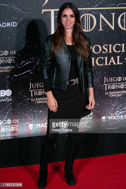 Spanish actress Elena Furiase attends the 'Game Of Thrones. The Official Exhibition' photocall at Ifema on October 24, 2019 in Madrid, Spain.