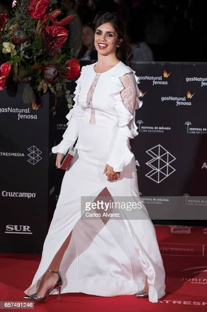 Spanish actress Elena Furiase attends the 'Pieles' premiere on day 8 of the 20th Malaga Film Festival at the Cervantes Teather on March 24, 2017 in...