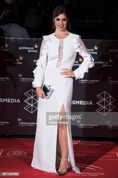 Spanish actress Elena Furiase attends the 'Pieles' premiere on day 8 of the 20th Malaga Film Festival at the Cervantes Teather on March 24 2017 in...