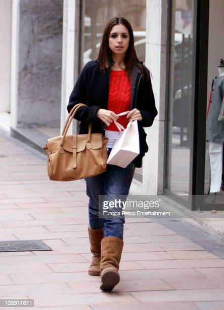 Spanish actress Elena Furiase is seen sighting on March 10, 2011 in Madrid, Spain.