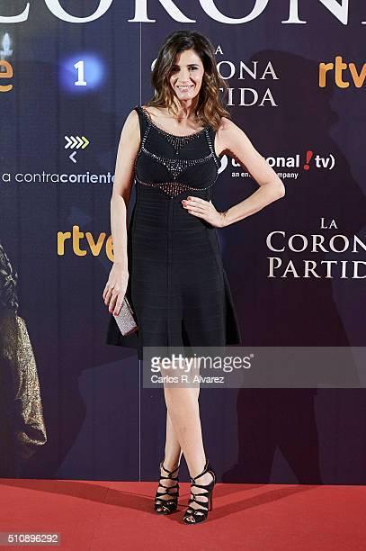 Spanish actress Elia Galera attends La Corona Partida premiere at the Capitol cinema on February 17 2016 in Madrid Spain