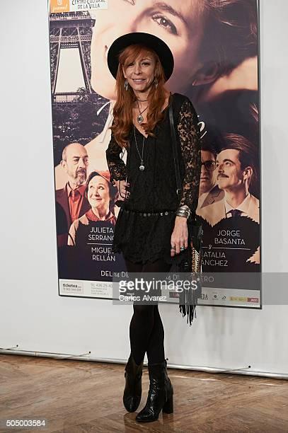 Spanish actress Elisa Matilla attends 'Ninette y un Senor de Murcia' premiere at the Fernan Nunez Theater on January 14 2016 in Madrid Spain