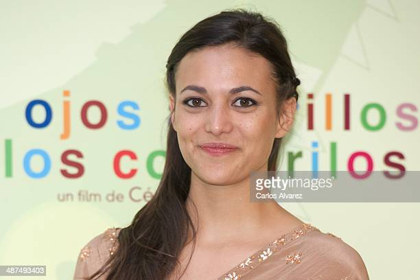 Spanish actress Elisa Mouliaa attends the Los Ojos Amarillos de los cocdrilos premiere at the Academia de Cine on April 30 2014 in Madrid Spain