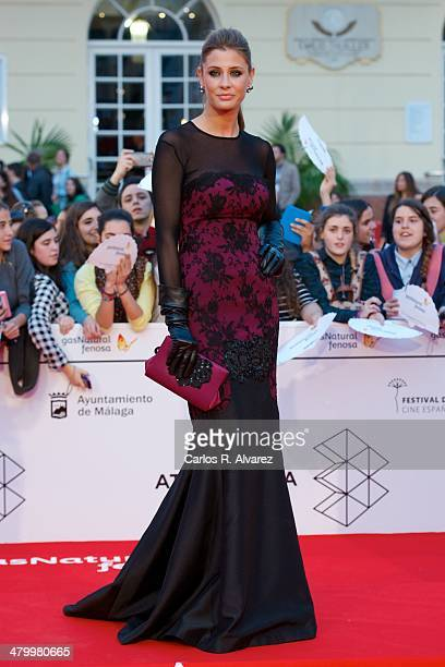 Spanish actress Elizabeth Reyes attends the 17th Malaga Film Festival 2014 opening ceremony at the Cervantes Theater on March 21, 2014 in Malaga,...