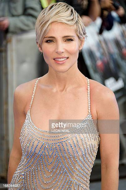 Spanish actress Elsa Pataky arrives at the world premiere of 'Fast and Furious 6' at the Empire cinema in Leicester Square in central London on May 7...