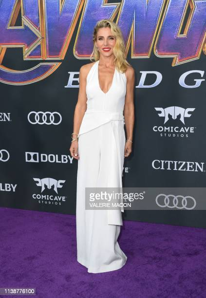 Spanish actress Elsa Pataky arrives for the World premiere of Marvel Studios' Avengers Endgame at the Los Angeles Convention Center on April 22 2019...