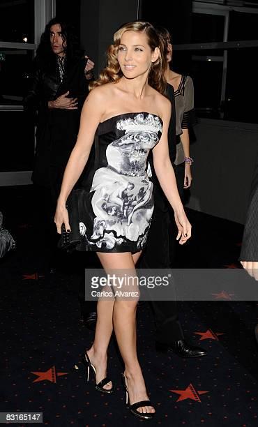 Spanish actress Elsa Pataky attends Santos premiere at Kinepolis Cinema on October 7 2008 in Madrid Spain